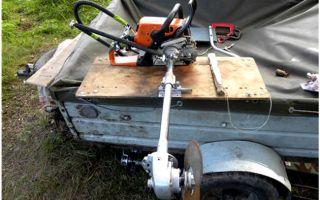 Мотор для лодки из бензопилы своими руками