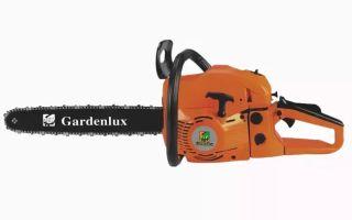 Обзор бензопил фирмы Gardenlux