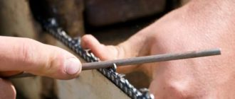 заточка цепи бензопилы своими руками