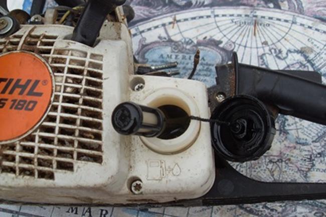 грязный топливный фильтр штиль 180