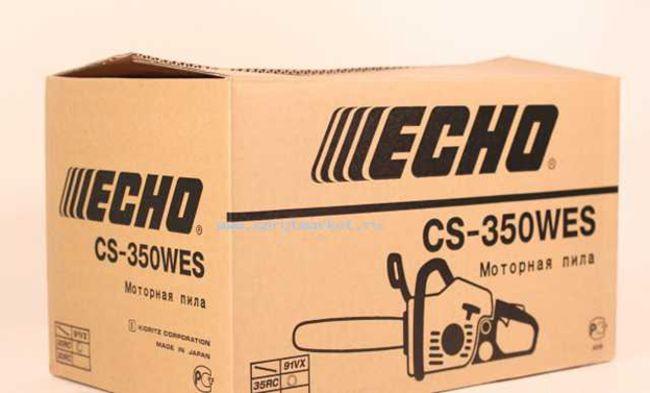 упаковка бензопилы Echo CS 350