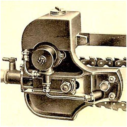 первая автоматическая смазка цепи