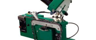 станок для заточки цепи зеленый корпус