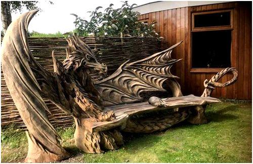 дракон из дерева