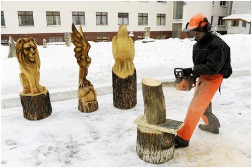 фигуры животных из дерева