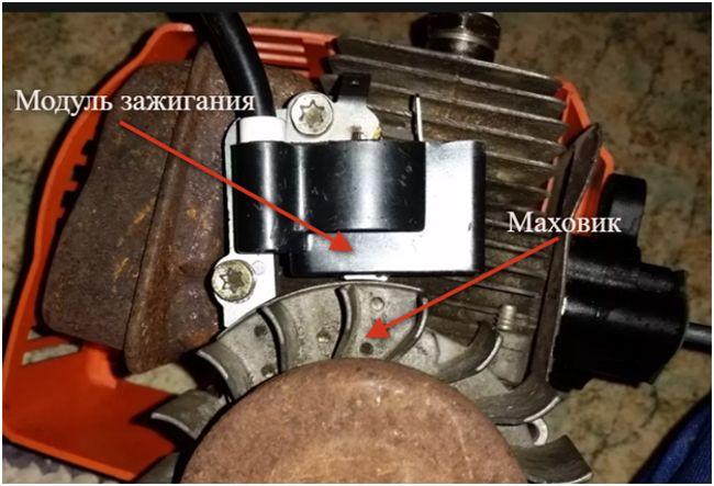 модуль зажигания на бензопиле