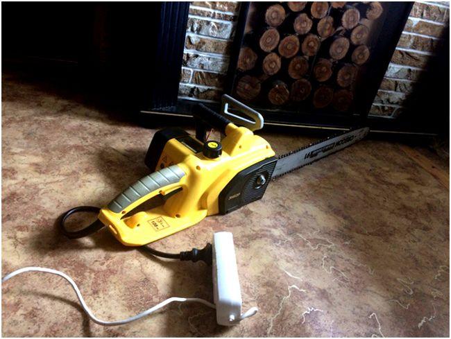 электропила в помещении