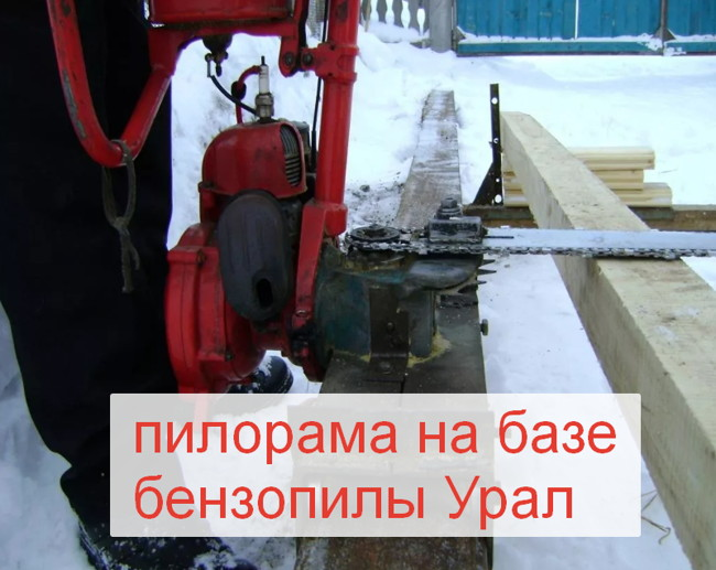 пилорама из бензопилы
