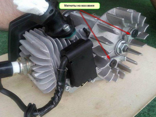 устройство бензопилы зажигание маховик
