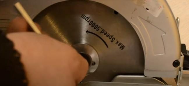 Откручивание пильного диска