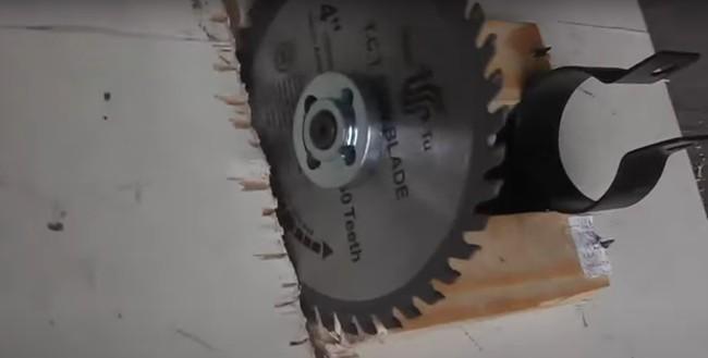 Проделывание паза пильным диском