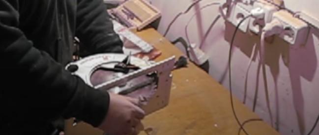 Проворачивание диска на ручной циркулярке