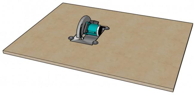 Рабочая поверхность с циркуляркой