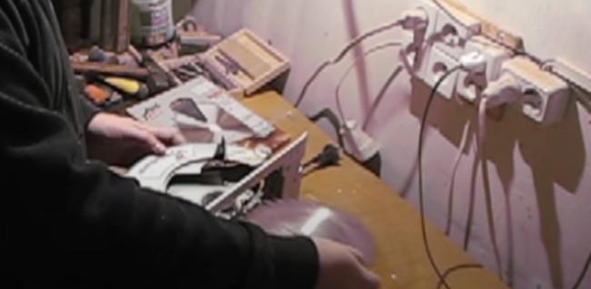 Снятие пильного диска с ручной циркулярки