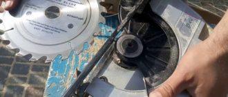 Установка пильного диска на циркулярку