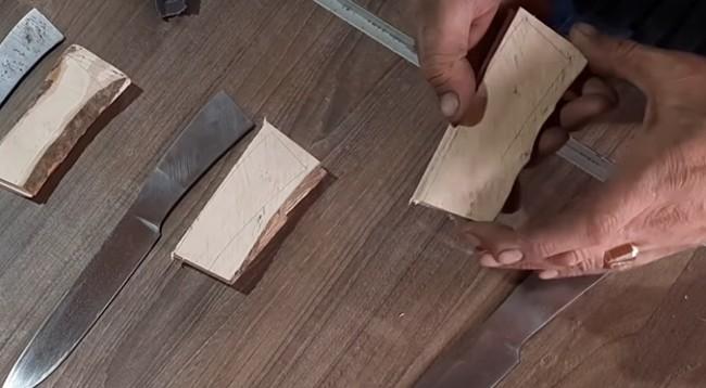 Деревянные планки с разметкой