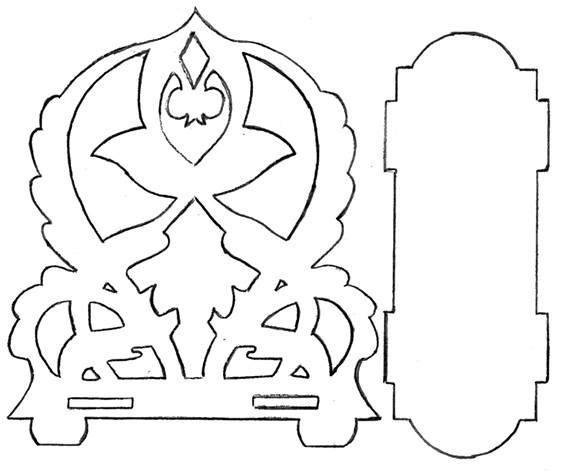 Фигурная салфетница