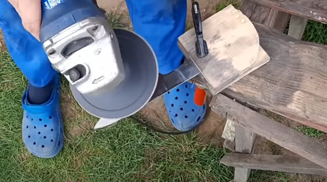 Обработка лезвия болгаркой