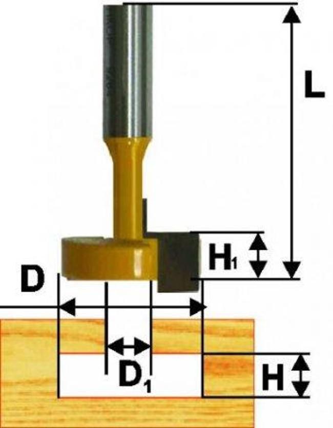Пазовая конструкционная фреза с боковой режущей кромкой