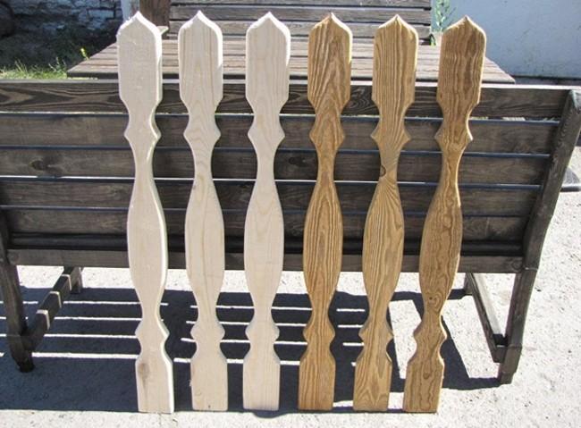 Плоские балясины из дерева