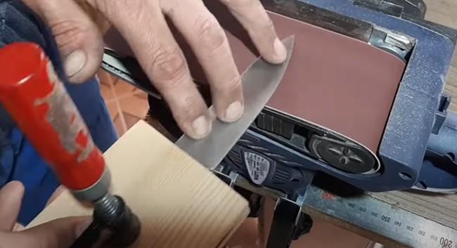 Полировка лезвия ножа