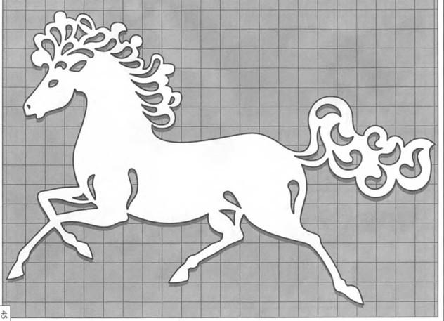 Трафарет бегущая лошадь