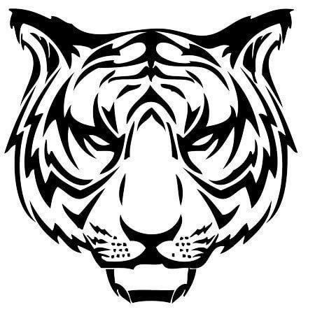 Трафарет голова тигра