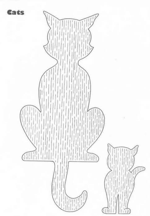 Трафарет коты