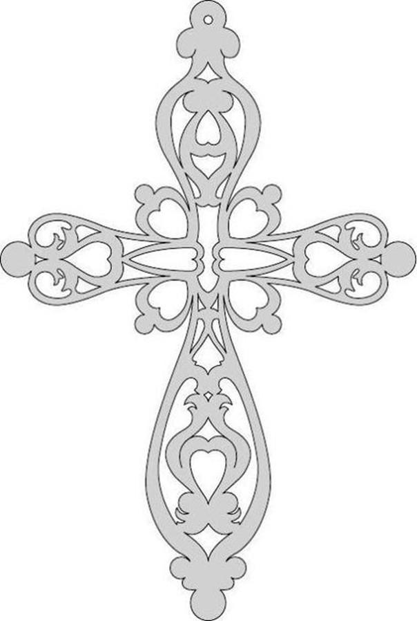 Трафарет крест