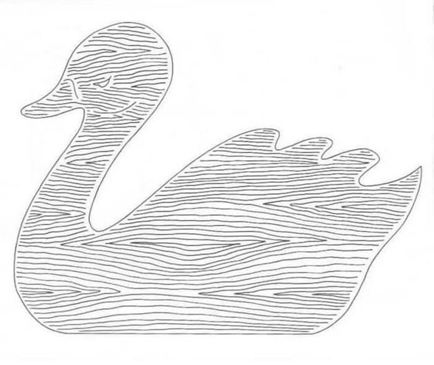 Трафарет лебедь