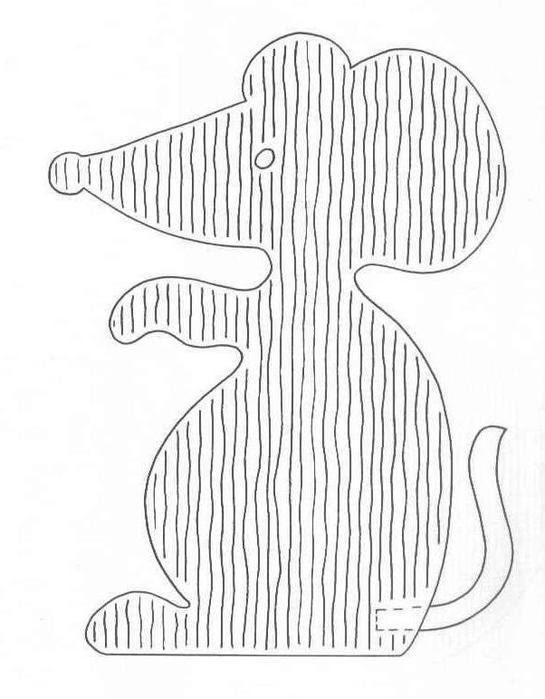Трафарет мышь