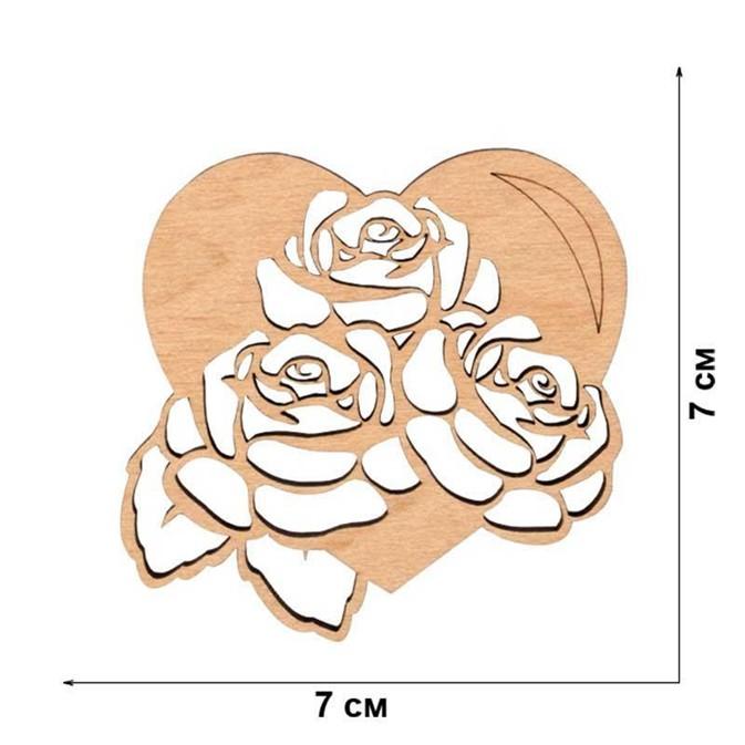 Трафарет розы и сердце