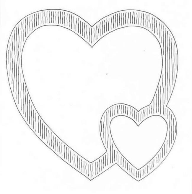 Трафарет сердца