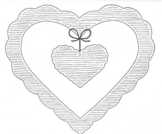 Трафарет сердце с подвеской