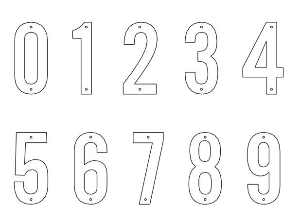 Трафарет цифры