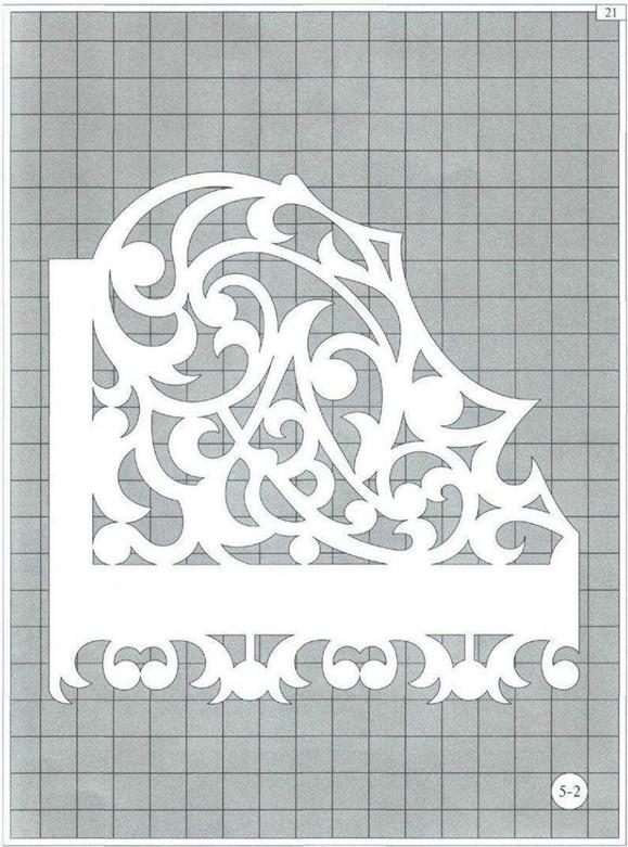 Трафарет цветочный орнамент